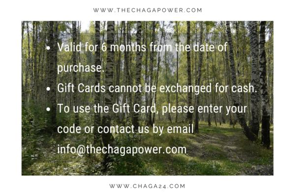 chaga power gift card 25