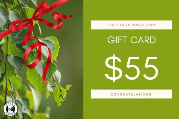 chaga power gift card 55